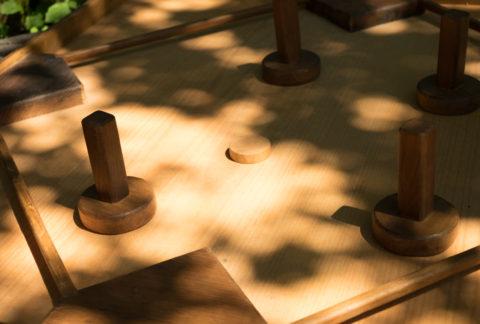 Table à glisser 4 joueurs - Touche du Bois